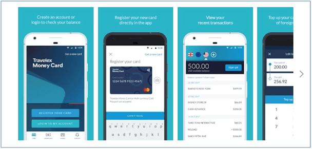 Travelex Mobile App: Travelex Money Interface