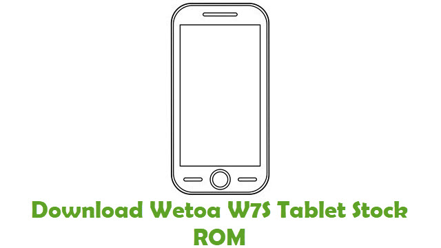Download Wetoa W7S Tablet Stock ROM