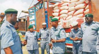 Image result for Customs intercepts contrabands in Kwara