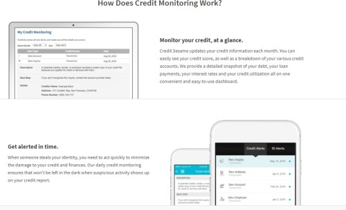 Credit Sesame How does credit monitoring work