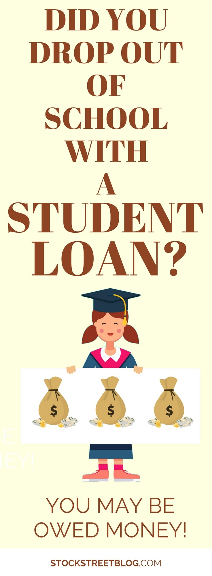 If you took out student loans for school but never graduated, you should have had a specific refund. If you did not receive that refund, you may be owed money! The great part is, the cash owed to you also will have earned interest over the years; you may be owed a nice chunk of money! #debt #debtsnowball #money #personalfinance #studentloans #financialfreedom