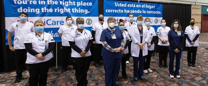 nursing students vaccine megasite