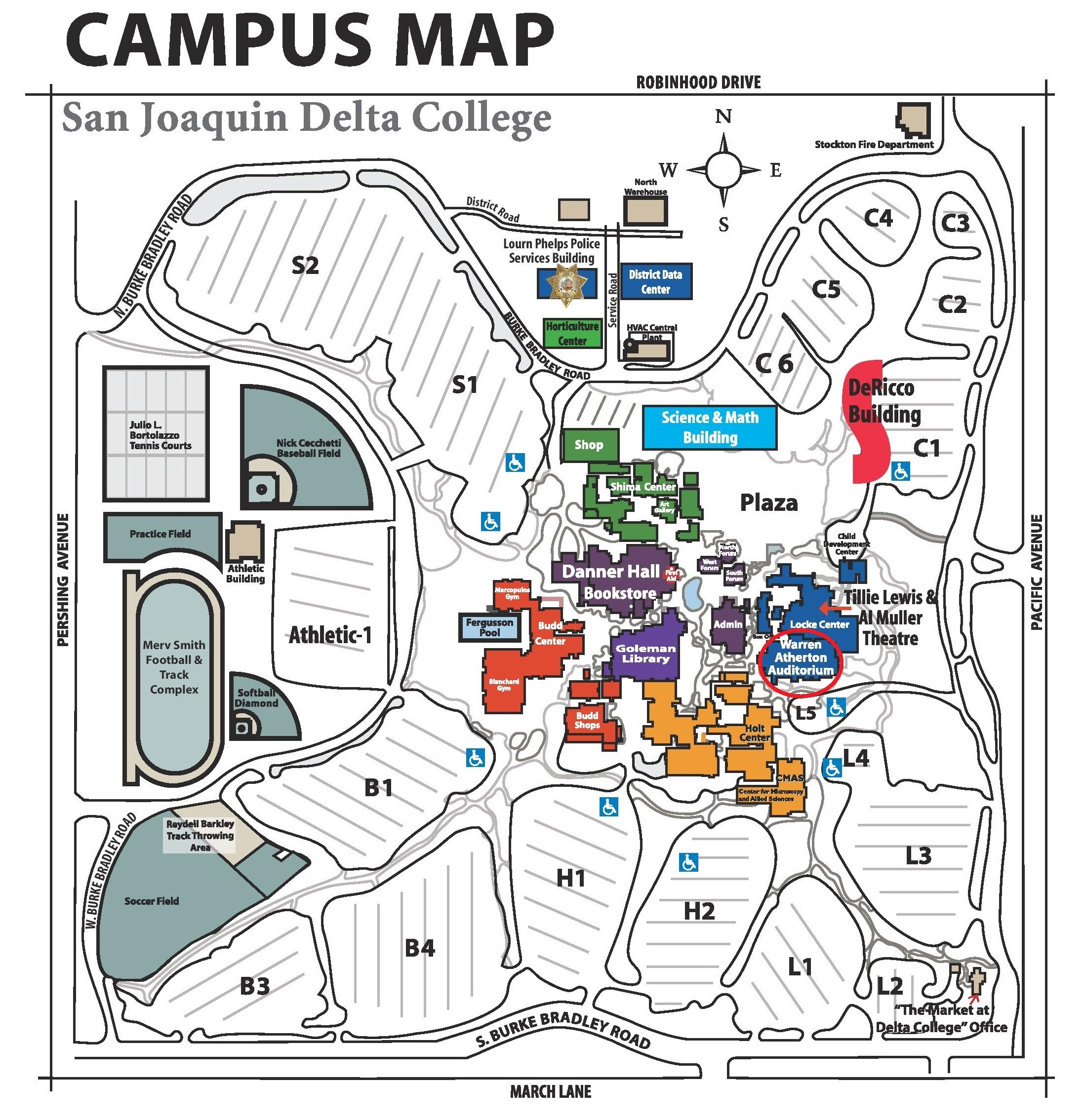 Delta College Map Warren Atherton Auditorium « Stockton Symphony Association