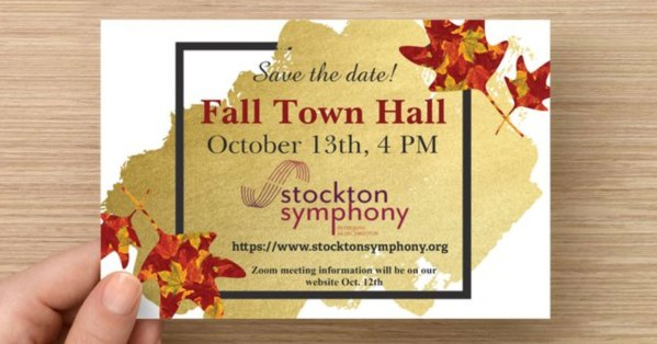 Fall Town Hall meeting - Save the date!