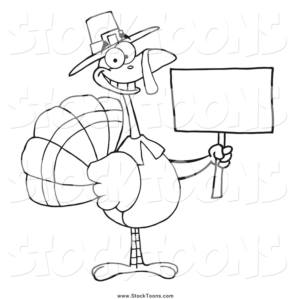 Stock Cartoon Of A Black And White Thanksgiving Pilgrim