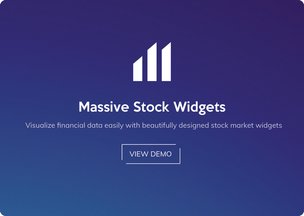 Massive Stock Market & Forex Widgets - 1