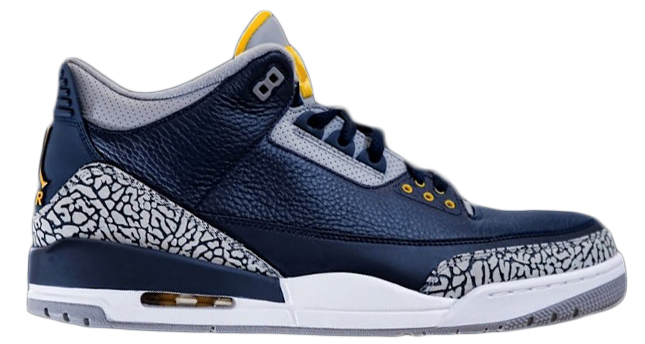 Jordan 3 Retro Michigan PE   TBD Jordan 3 Retro Michigan PE