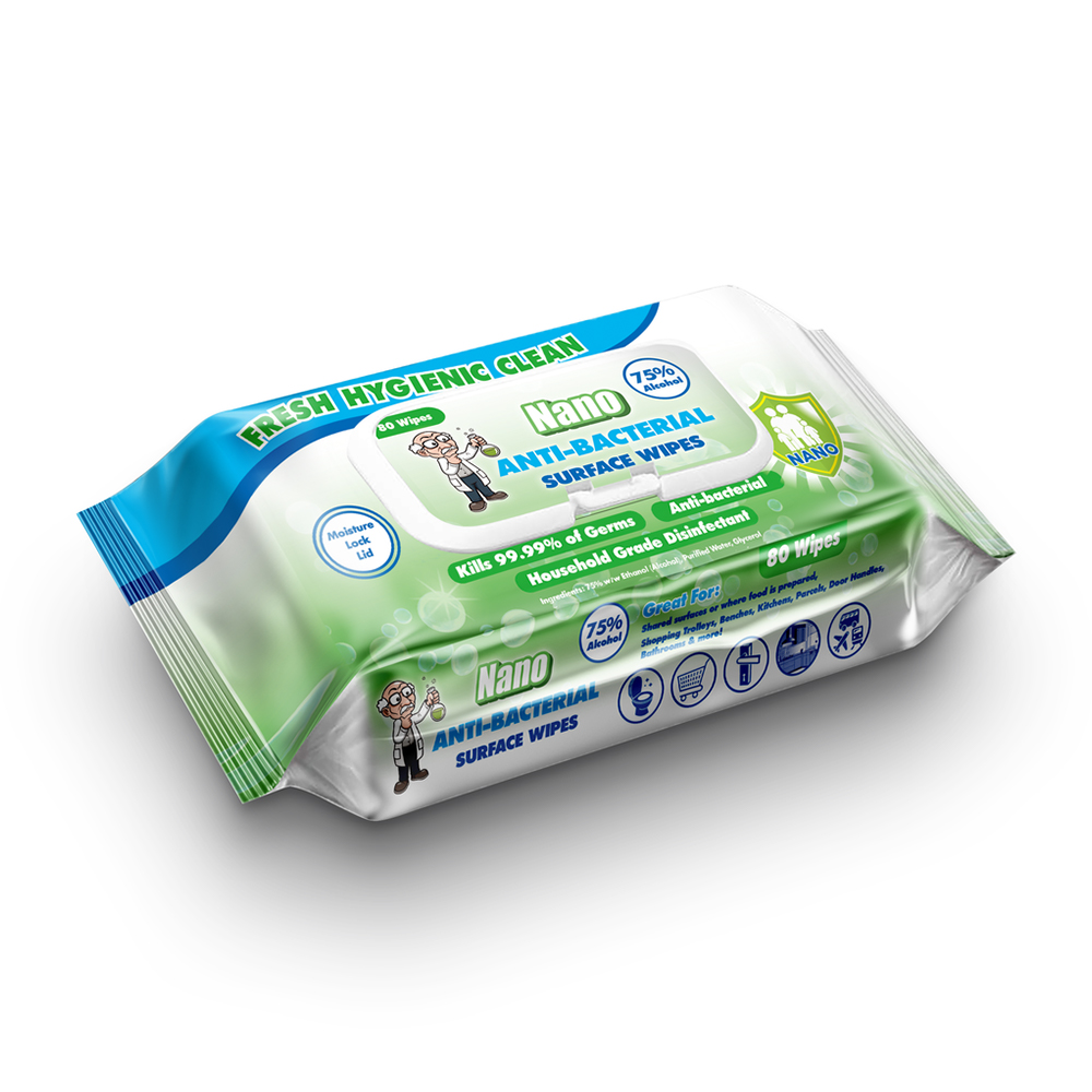 Nano Anti-Bacterial Disinfectant Wipes