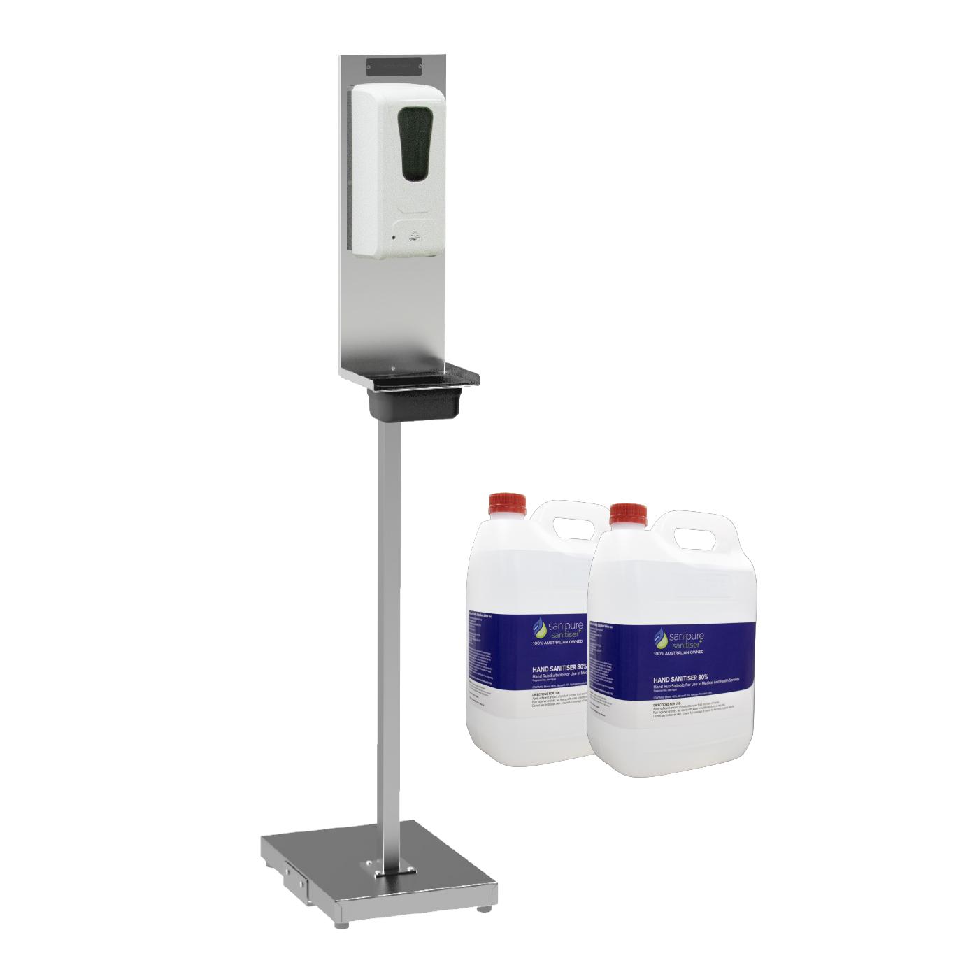 Value Pack - Stainless Steel Stand, Dispenser and Hand Sanitiser