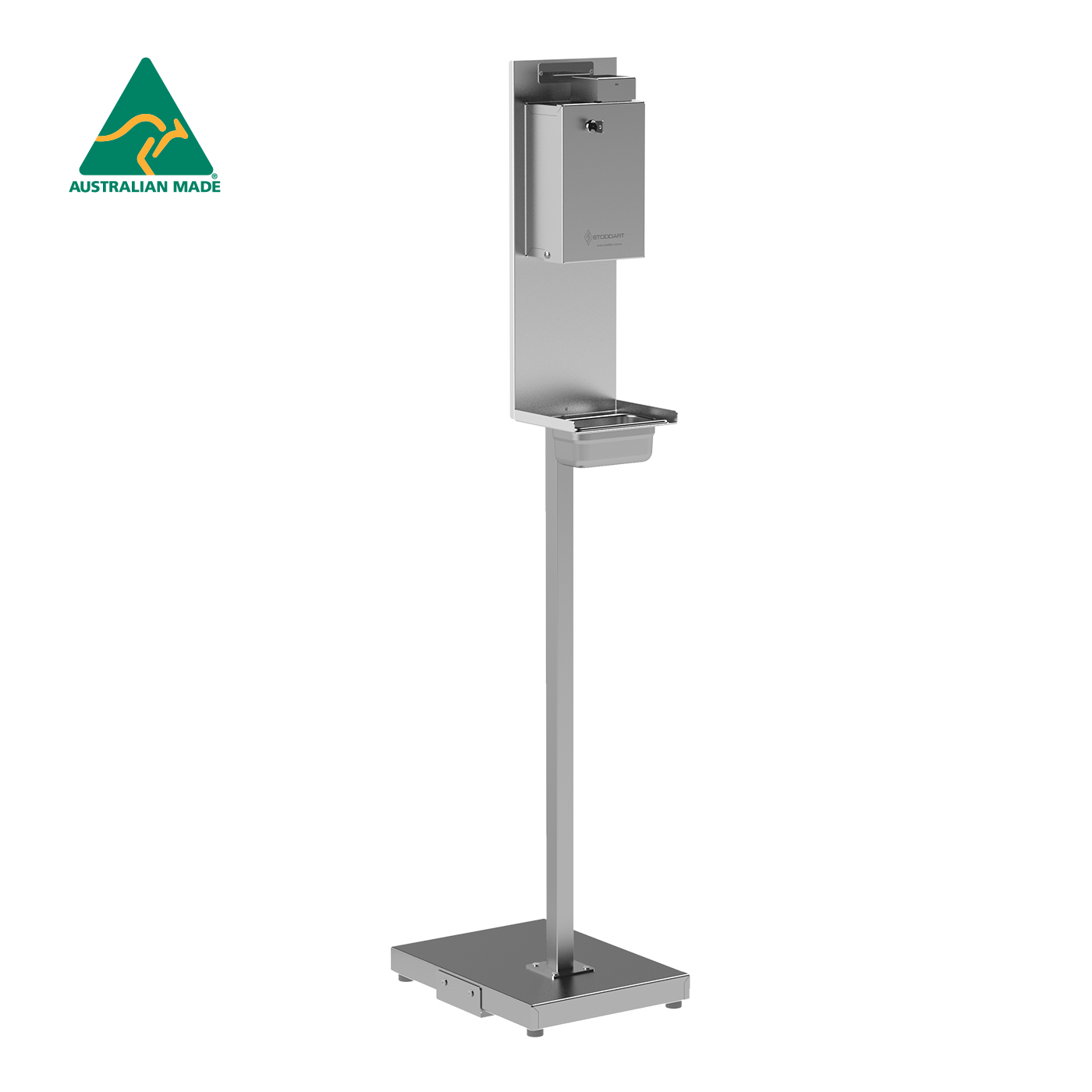 Standard Security Hand Sanitiser Dispenser on Stainless Steel Stand