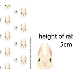 Stenzo Jersey Stoff Kaninchen 5cm