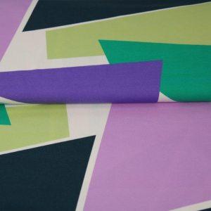 Stenzo Jersey Stoff blau, grün, lila
