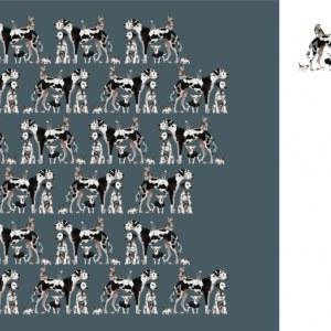 Stenzo Jersey Stoff Hund und Katze 6