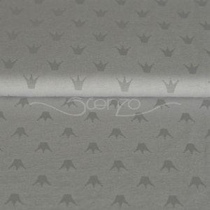 Stenzo Jersey Stoff Krone grau