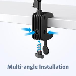 multi-angle installation