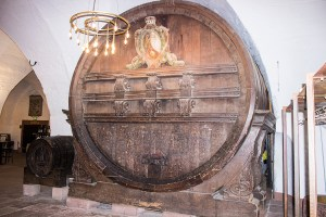 Wine barrel used for tax collection