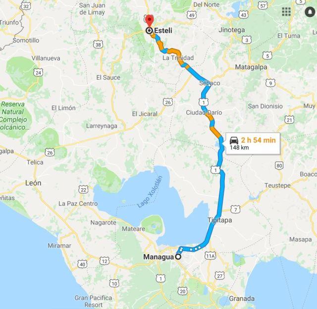 Road to Esteli