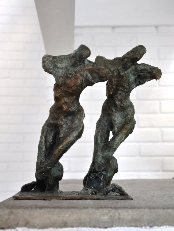 The Pilgrims, bronze