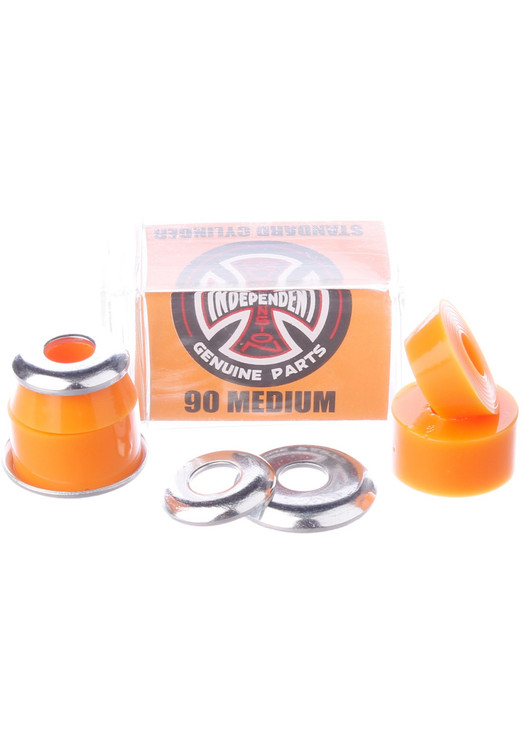 Lenkgummis Independent Standard Cylinder Cushions Medium 90A Sind dir deine Achsen zu weich? Harte Bushings aber zu hart? Die Lenkgummis Independent Standard Cylinder Cushions Medium 90A von Independent