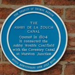 Blue Plaque for the Ashby Canal