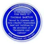 Blue Plaque for The Charity of Thomas Barton