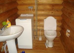 民家のトイレの設置