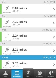 runkeeper running work outs gym race pace speed stephanie hughes stolen colon crohns ostomy blog