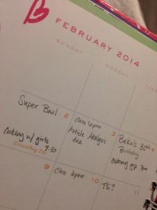 february monthly goals busy calendar stephanie hughes stolen colon crohn's disease ulcerative colitis inflammatory bowel disease ibd ostomy blog