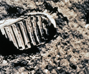 Boot print on the Moon