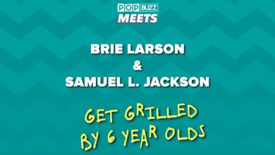 Photo of Brie Larson & Samuel L. Jackson Answer Kids' Questions