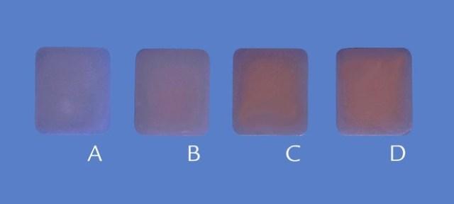 Образцы керамики, толщины - 1, 1,5, 2 и 2,5 мм