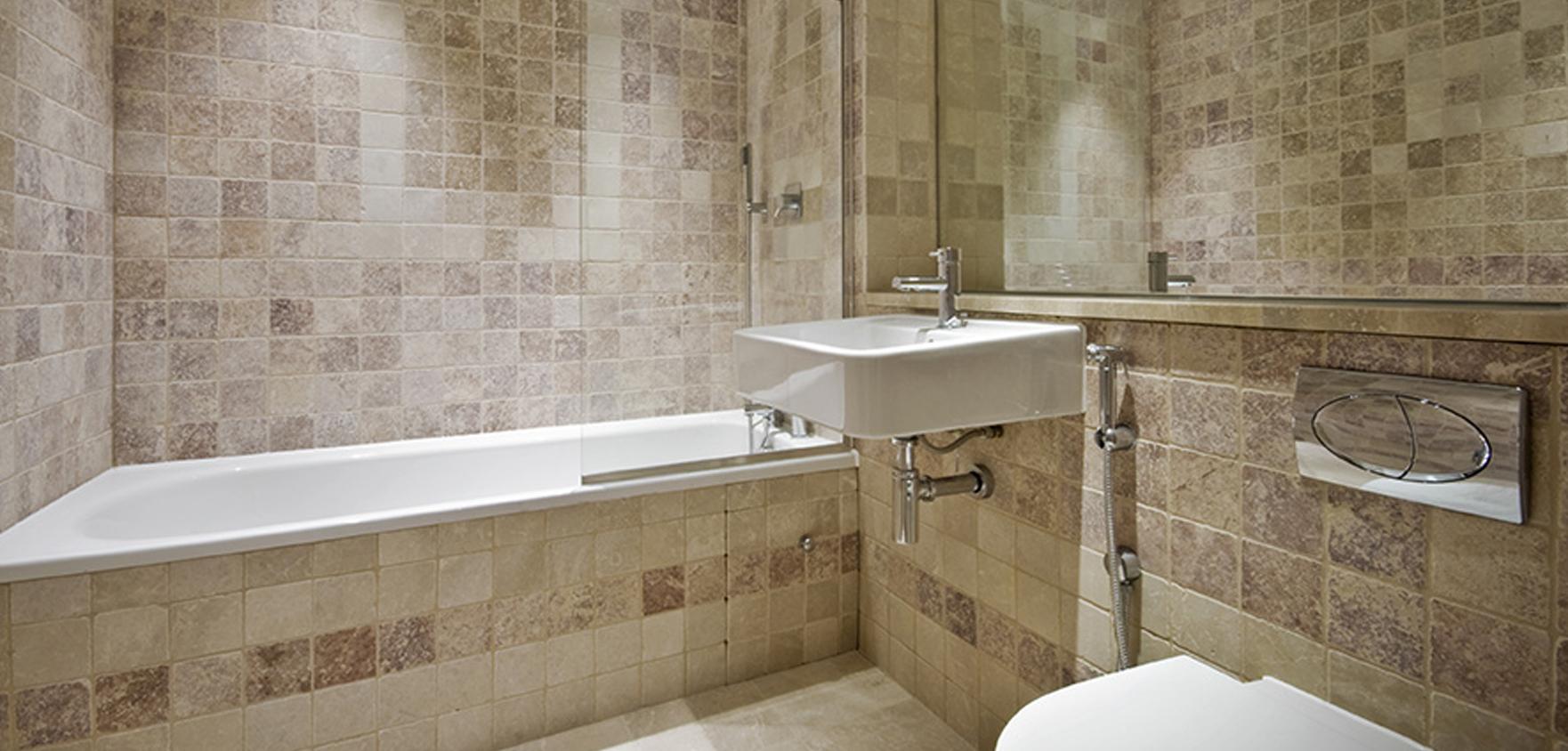 travertin pour salle de bain sol