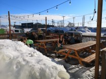 And the patio opened