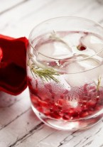 The benefits and taste of this water is well worth the picking of pomegranate seeds! You'll Need Mix together 1 cup water, 2 tbsp pomegranate seeds, 1 tsp 100% pomegranate juice, and 2 rosemary leaves. Chill and enjoy!