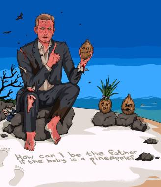 Jeremy Kyle stuck on a deserted island going crazy doing his show with coconuts. As requested by Ребенка Аллан