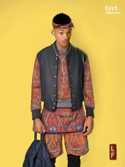 """To fit Will's in-your-face, unapologetic personality, we dressed him in a bold outfit in keeping with his passion for print and vibrant colors. We imagined that modern-day Will would shop at Opening Ceremony or UK based designer platform Not Just A Label. The goal was to find an outfit that epitomized a 2015 take on his hip-hop aesthetic, with all the positivity and charm that he brought to his recognizable looks."""