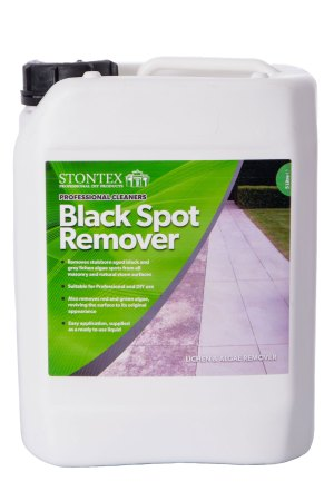 Image of Stontex Black Spot Remover removes black spots from natural stone and concrete paving