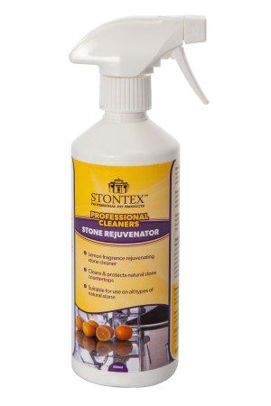 Image of Stontex Rejuvenator Spray cleans and protects kitchen stone countertops