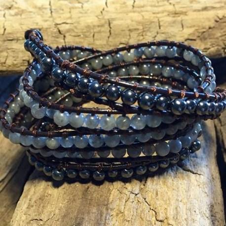 Stone Era bracelet, natural stone wrap labradorite manon tremblay ottawa