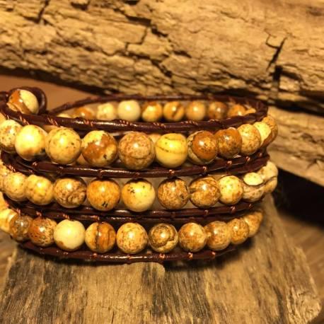 Stone Era, natural stone bracelet handmade, manon tremblay ottawa canada yin yang