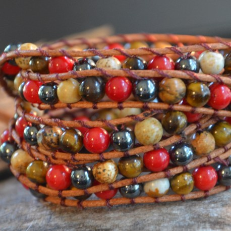 Stone Era Natural Stone Bracelets, red coral, hematite jasper, manon tremblay