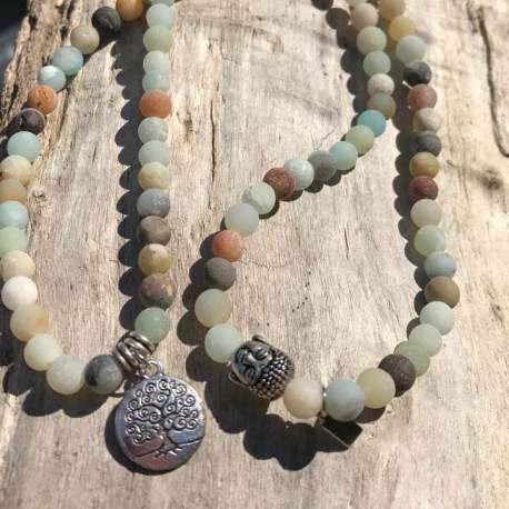 Stone Era natural stone bracelet amazonite with tree of life for her manon tremblay ottawa
