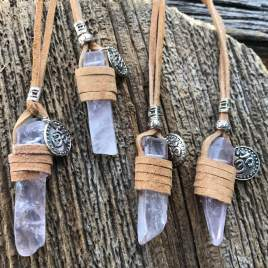 Raw necklace – Rose Quartz