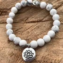 Windfall (white turquoise with Lotus)
