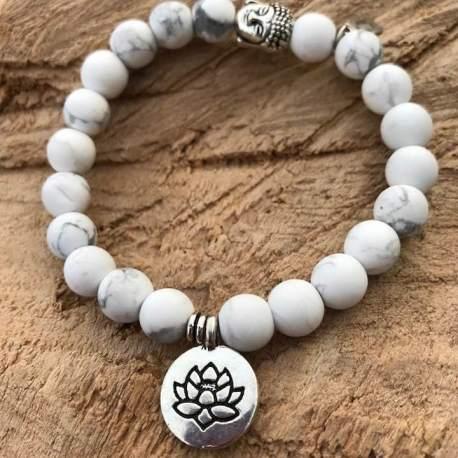 stone era bracelet manon tremblay handmade ottawa white turquoise with lotus