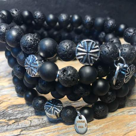 Shungite and lava stone era natural stone bracelet for him ottawa