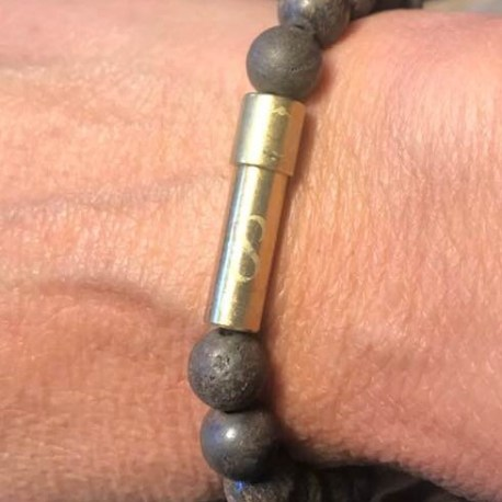 Stone era infinity bracelet -BRONZITE 4ottawa manon tremblay message in a bracelet