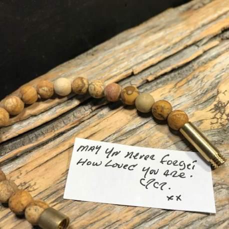 Stone era infinity bracelet -jasper 1ottawa manon tremblay message in a bracelet