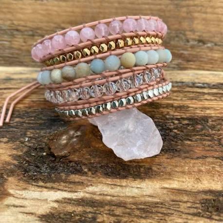 Amazonite rose quartz crystal serenity handmade stone era handmade ottawa gatineau