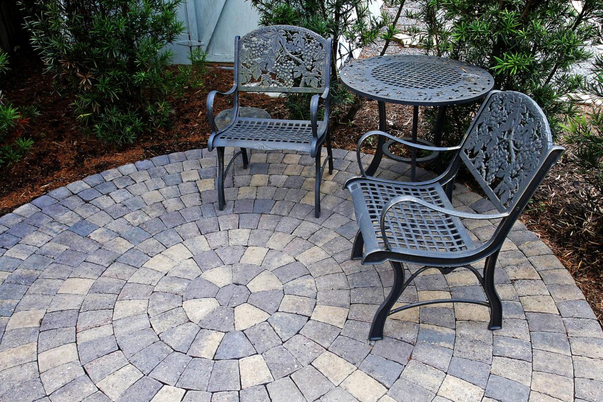 pavers walls stone garden